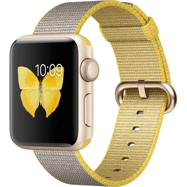 Apple-Watch-2-38mm-Gold-Aluminum-with-Yellow-Gray-Nylon-Band-964084
