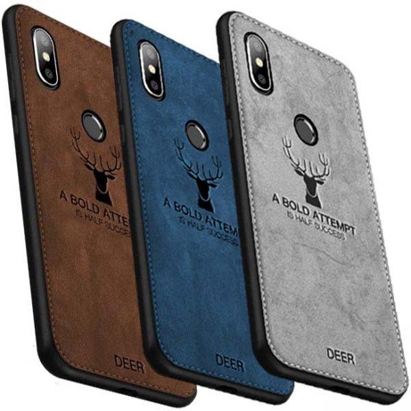 buy-price-xiaomi-mi-a2-lite-redmi-6-pro-cloth-texture-silicone-tpu-deer-case-قاب-گوشی-گوزنی
